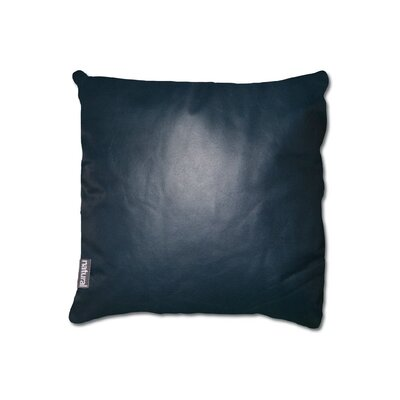 Dorine Leather Throw Pillow Color: Blue