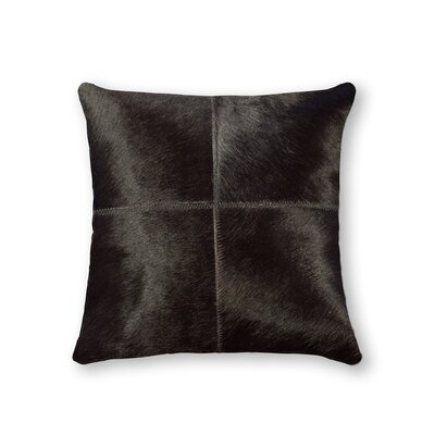 Graham Plain Leather Throw Pillow Color: Orange