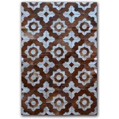 Marrakeche Brown/Blue Area Rug Rug Size: 5 x 8