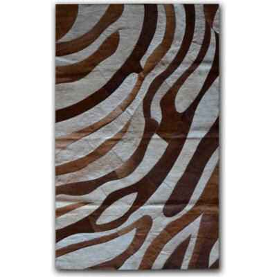 Brown/White Safari Area Rug Rug Size: 8 x 10