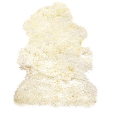 Handmade Natural Sheepskin Area Rug Rug Size: Rectangle 2 x 3