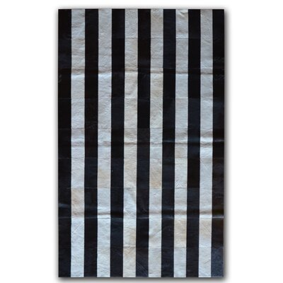 Black/White Area Rug Rug Size: 5 x 8
