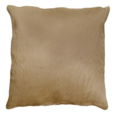 Torino Leather Throw Pillow Color: Natural