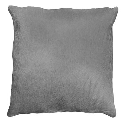 Torino Leather Throw Pillow Color: Gray