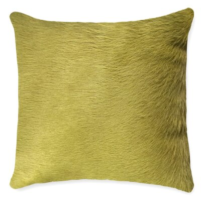 Torino Leather Throw Pillow Color: Lime