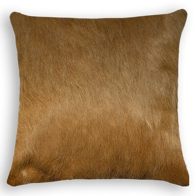 Torino Leather Throw Pillow Color: Tan