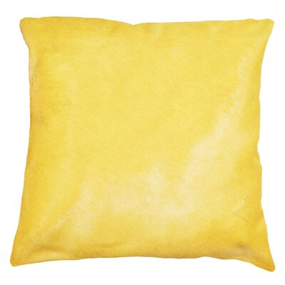 Torino Leather Throw Pillow Color: Canary Yellow