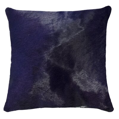Torino Leather Throw Pillow Color: Purple