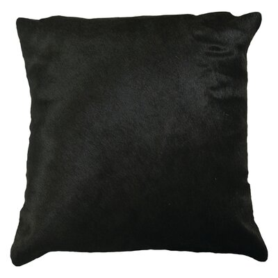 Torino Leather Throw Pillow Color: Orange