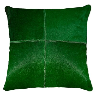 Graham Plain Throw Pillow Color: Green