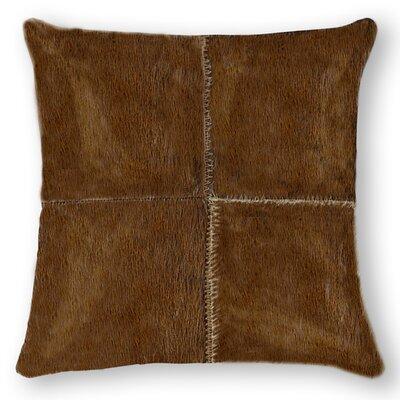 Graham Plain Throw Pillow Color: Chocolate