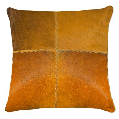 Graham Plain Throw Pillow Color: Orange