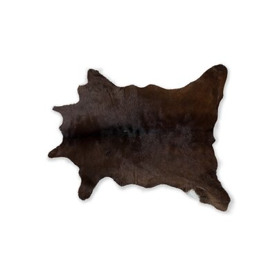Haley Hand-Woven Cowhide Chocolate Area Rug