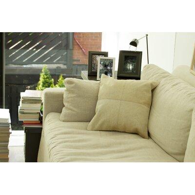 Graham Plain Throw Pillow Color: Black/White