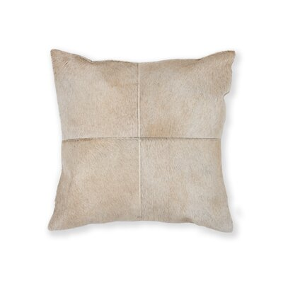 Graham Plain Leather Throw Pillow Color: Natural