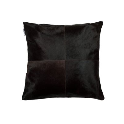 Graham Plain Leather Throw Pillow Color: Brown