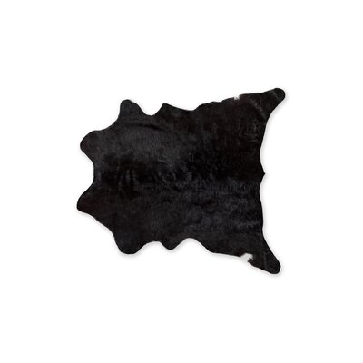 Hagerman Hand-Woven Cowhide Black Area Rug