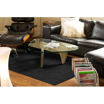 Aayush Ten Square Patch Hand-Woven Cowhide Black Area Rug� Rug Size: 8 x 10