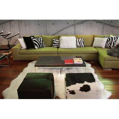 Rolande Hand-Woven Sheepskin White Area Rug Rug Size: 6 x 6