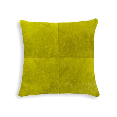 Graham Plain Leather Throw Pillow Color: Black/White