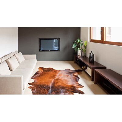 Abhinav Hand-Woven Cowhide Classic Brindle Area Rug