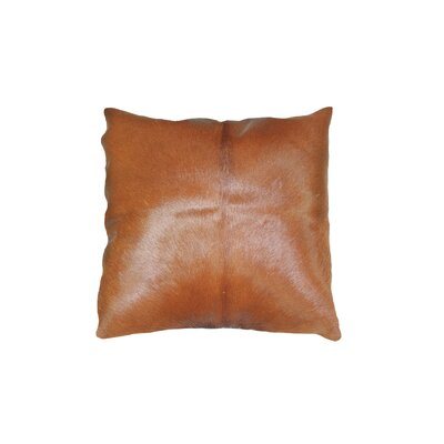 Graham Silky Leather Throw Pillow Color: Brown