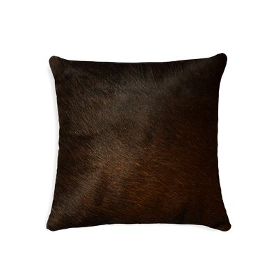 Torino Leather Throw Pillow Color: Chocolate