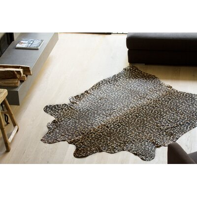 Grady Hand-Woven Cowhide Brown/Black/Red Area Rug