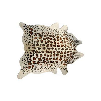 Grady Hand-Woven Cowhide Beige/Black Area Rug