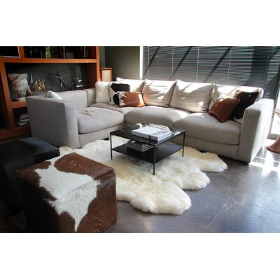 Rolande Hand-Woven Sheepskin White Area Rug