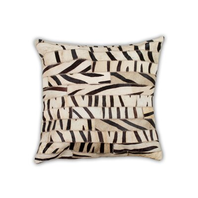 Graham Hand Woven Cowhide Throw Pillow