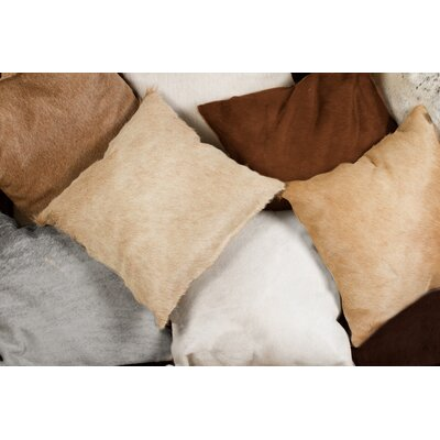 Burrell Leather Throw Pillow