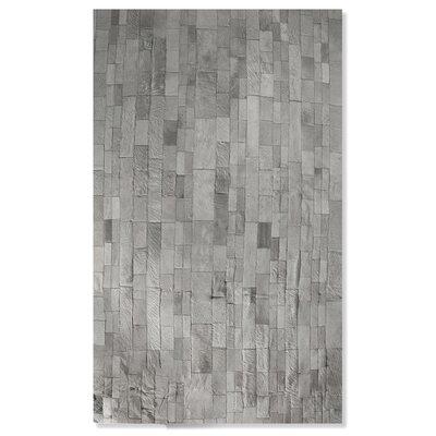 Sarthak Hand-Woven Cowhide Gray Area Rug