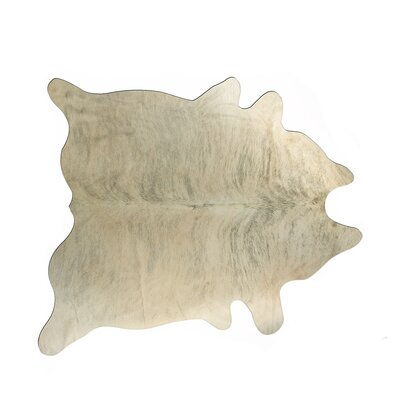 Abhinav Hand-Woven Cowhide Light Brindle Area Rug
