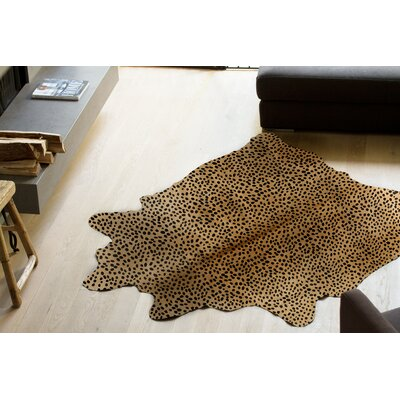 Grady Hand-Woven Cowhide Brown/Black Area Rug