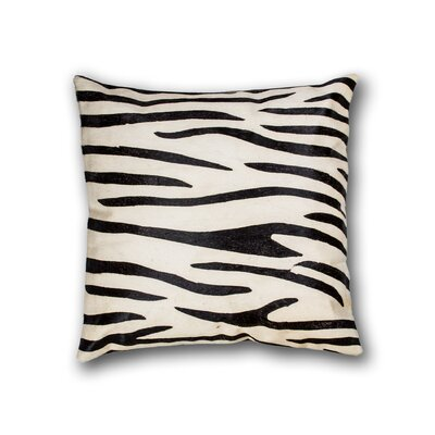 Graham Square Zebra Cowhide Throw Pillow