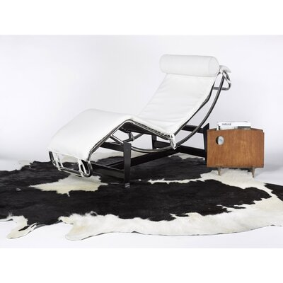 Abhinav Hand-Woven Cowhide Black/White Area Rug