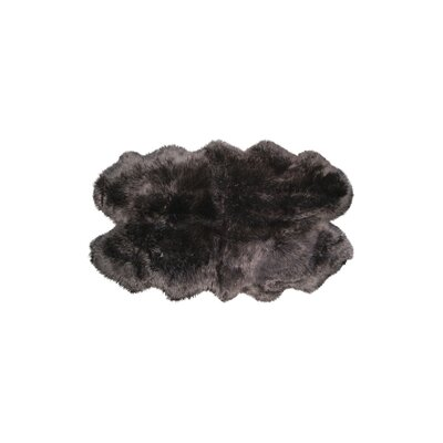Hand-Knotted Chocolate Sheepskin Area Rug