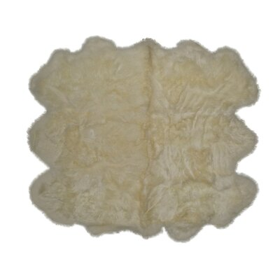 Hand-Knotted Gold Sheepskin Area Rug