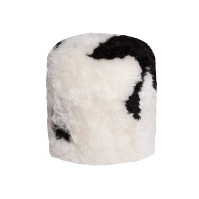 Stump Sheepskin Pouf Ottoman Upholstery: Spotted