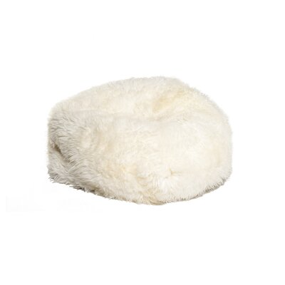 Icelandic Sheepskin Bean Bag Chair Upholstery: White