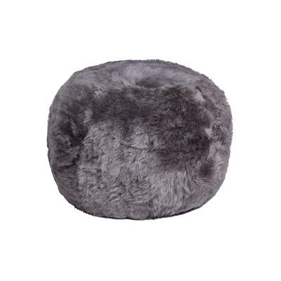 Floor Sheepskin Cushion Ottoman Upholstery: Gray Brisa