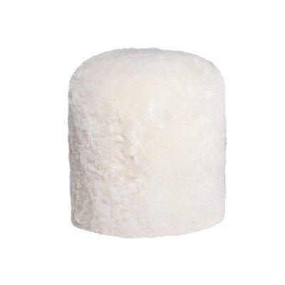 Stump Pouf Ottoman Upholstery: White
