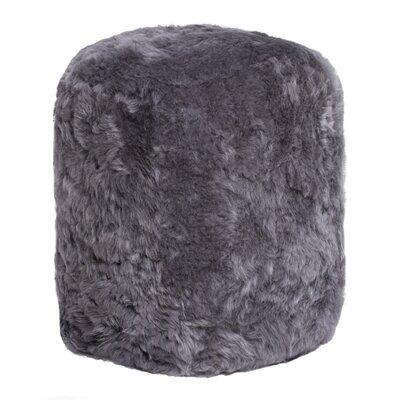 Stump Pouf Ottoman Upholstery: Gray Brisa