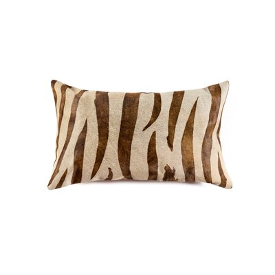 Graham Animal Print Leather Lumbar Pillow