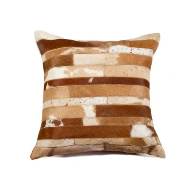 Graham Modern Cowhide Throw Pillow Color: Brown