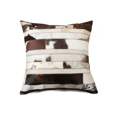 Graham Modern Cowhide Throw Pillow Color: Chocolate
