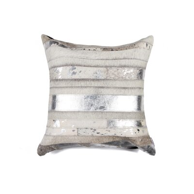 Sarthak Cowhide Throw Pillow Color: Gray/Silver