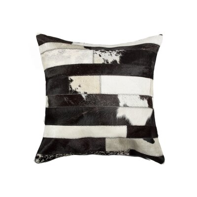 Graham Modern Cowhide Throw Pillow Color: Black/White