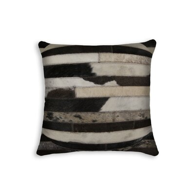 Graham Modern Cowhide Throw Pillow Color: Black/Beige/Brown